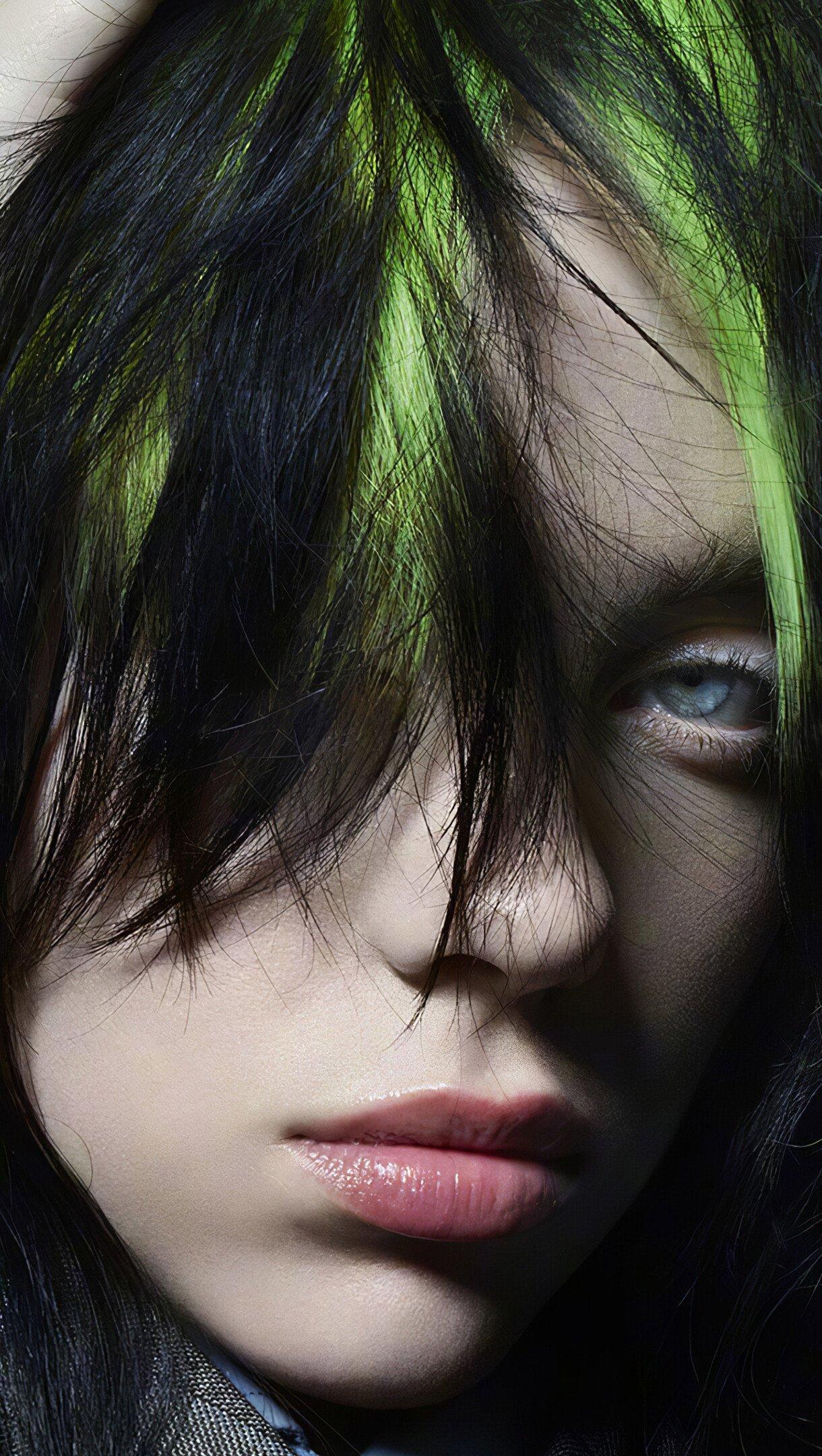 Wallpaper Billie Eilish hair undone Vertical