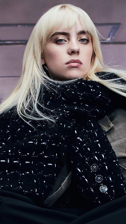 Wallpaper Billie Eilish Vogue Australia Vertical