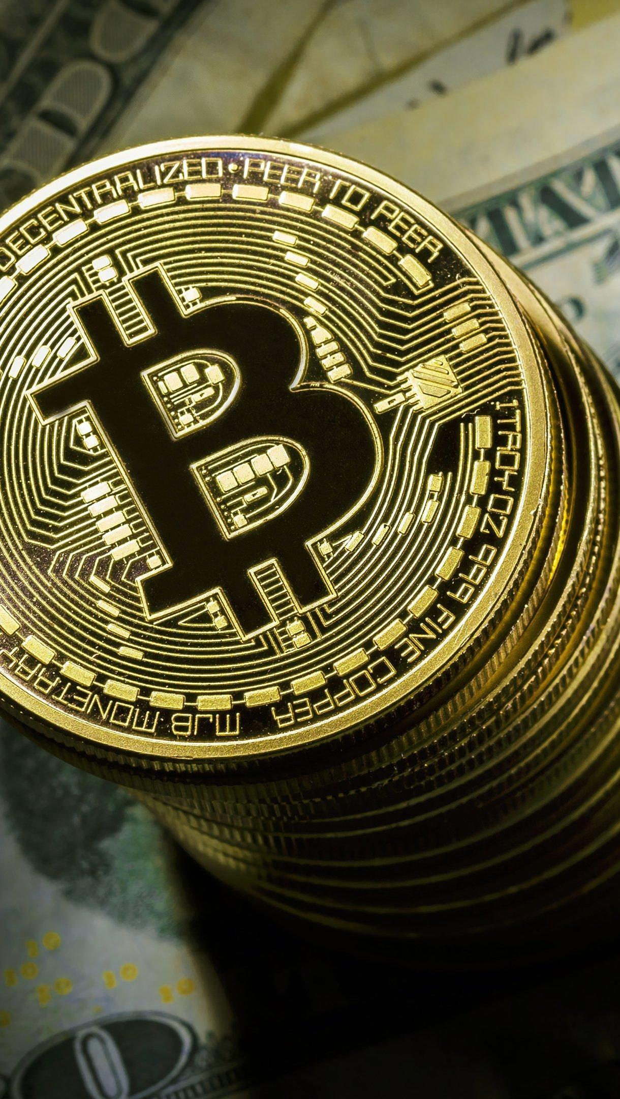 Fondos de pantalla Bitcoin Criptomonedas Vertical