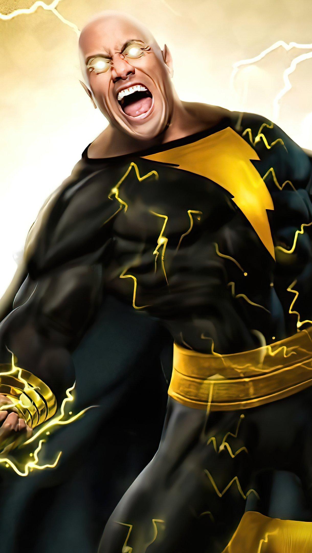 Fondos de pantalla Black Adam con electricidad Vertical