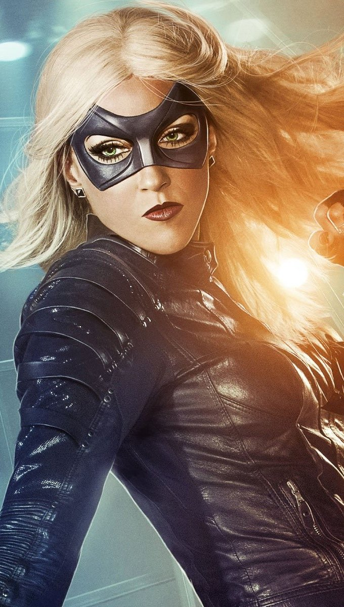 Wallpaper Black Canary on Arrow Vertical