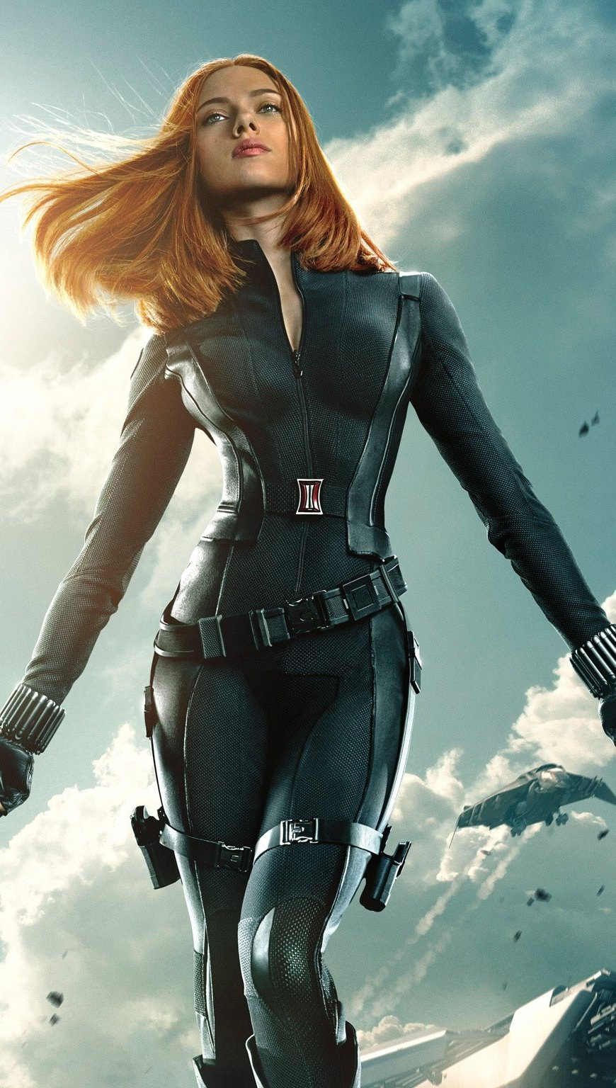 Wallpaper Black Widow in Capitan America 2 Vertical