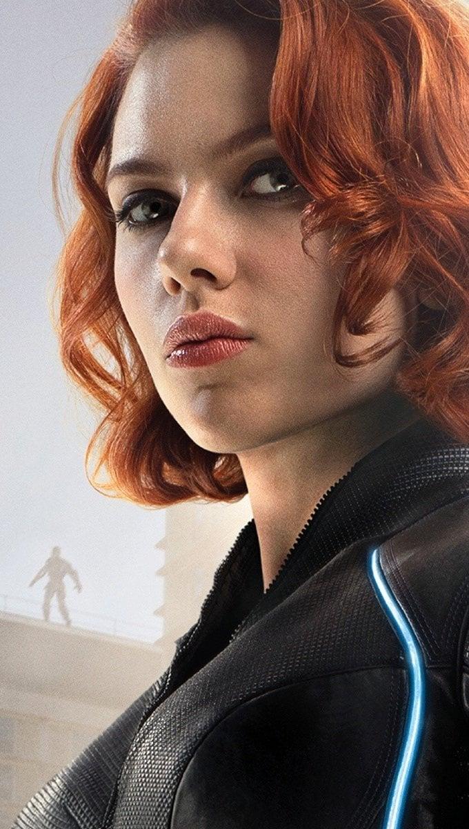 Wallpaper Black Widow in The Avengers Era of Ultron Vertical