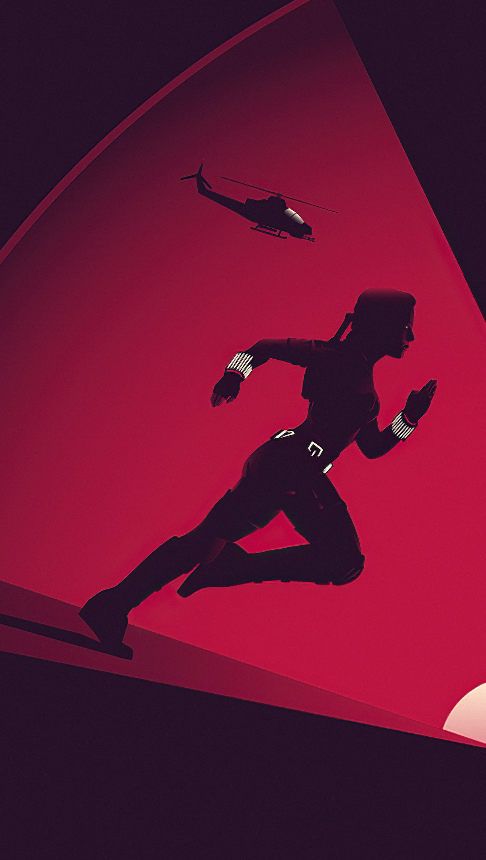 Fondos de pantalla Black Widow Fan art Minimalista Vertical