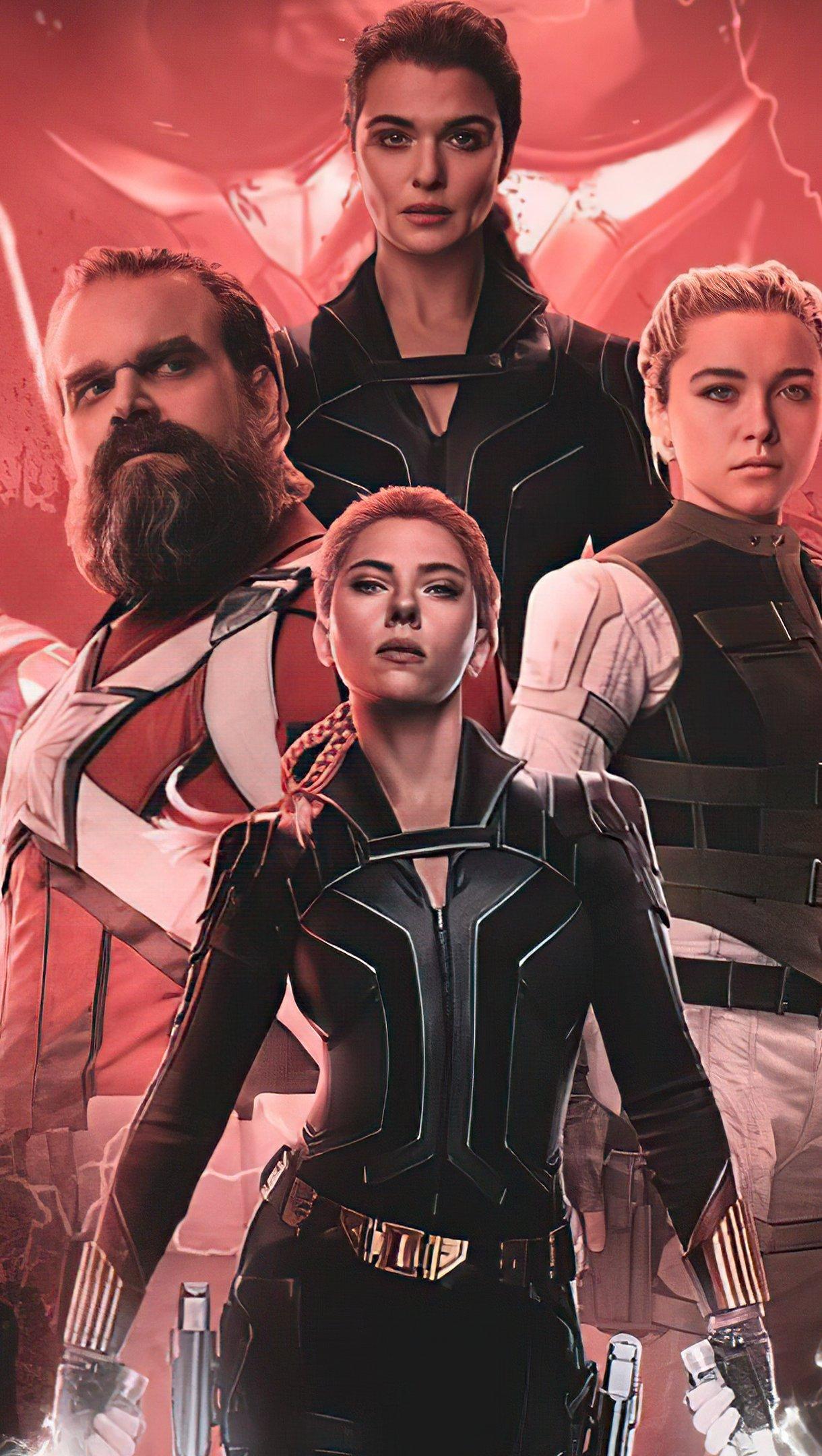 Wallpaper Black Widow Marvel Studios Fanart Vertical