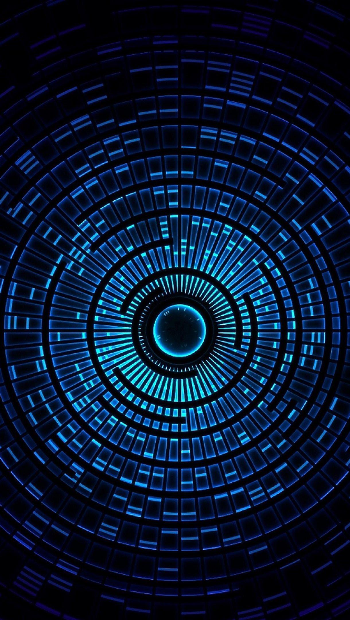 Wallpaper Vórtice azul 3D Vertical