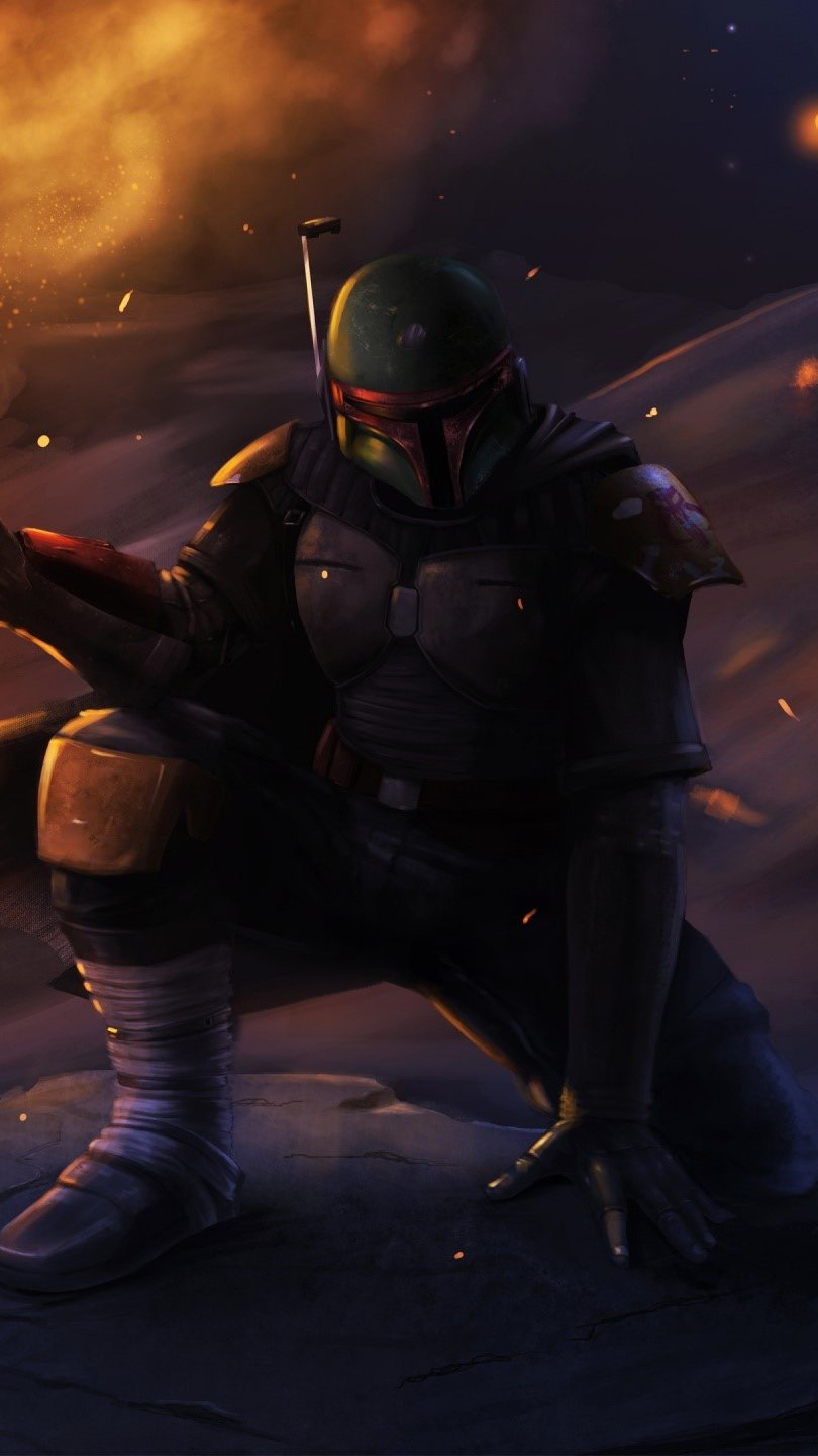 Wallpaper Boba fett from Star Wars Vertical