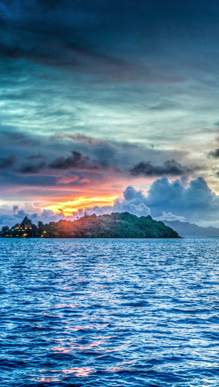 Wallpaper Bora Bora at sunset Vertical