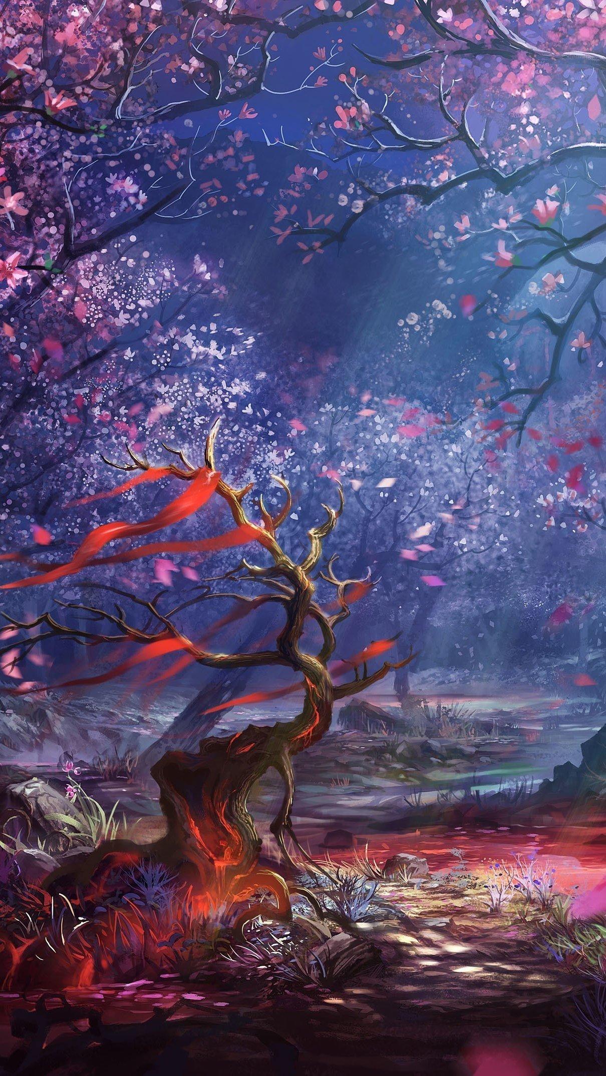Wallpaper Magic Forest Vertical