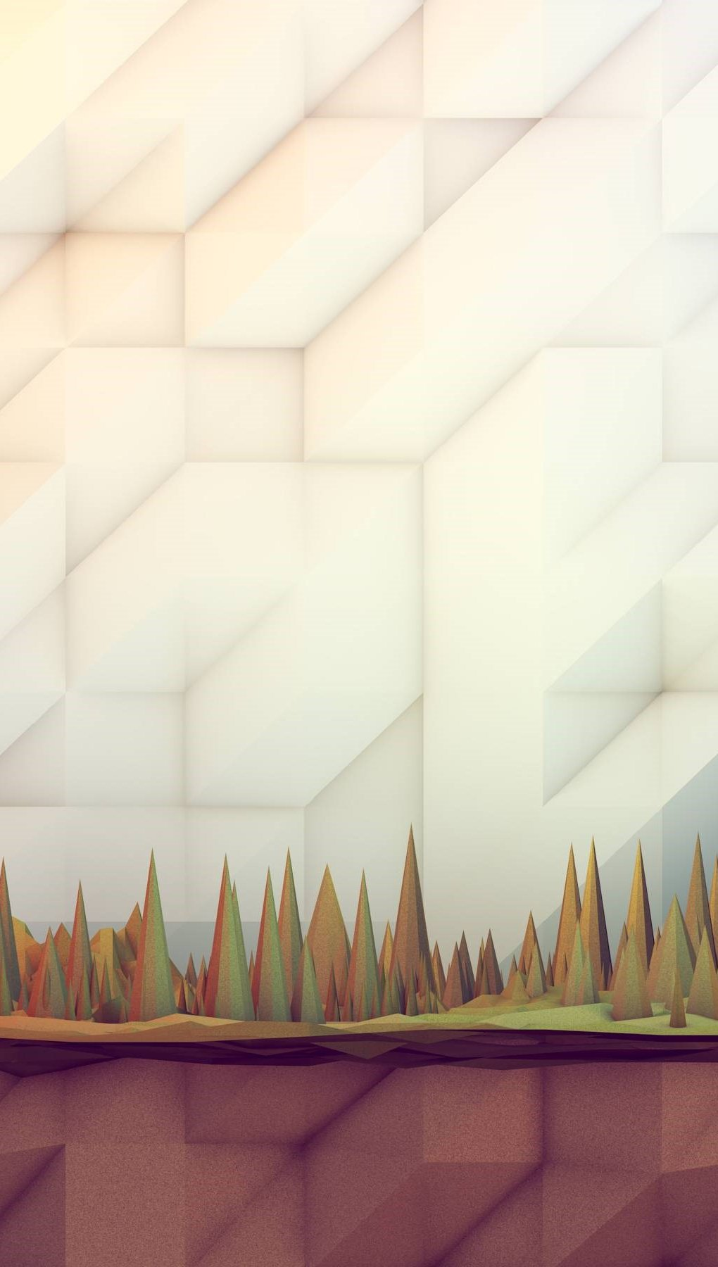 Wallpaper Polygonal forest Vertical