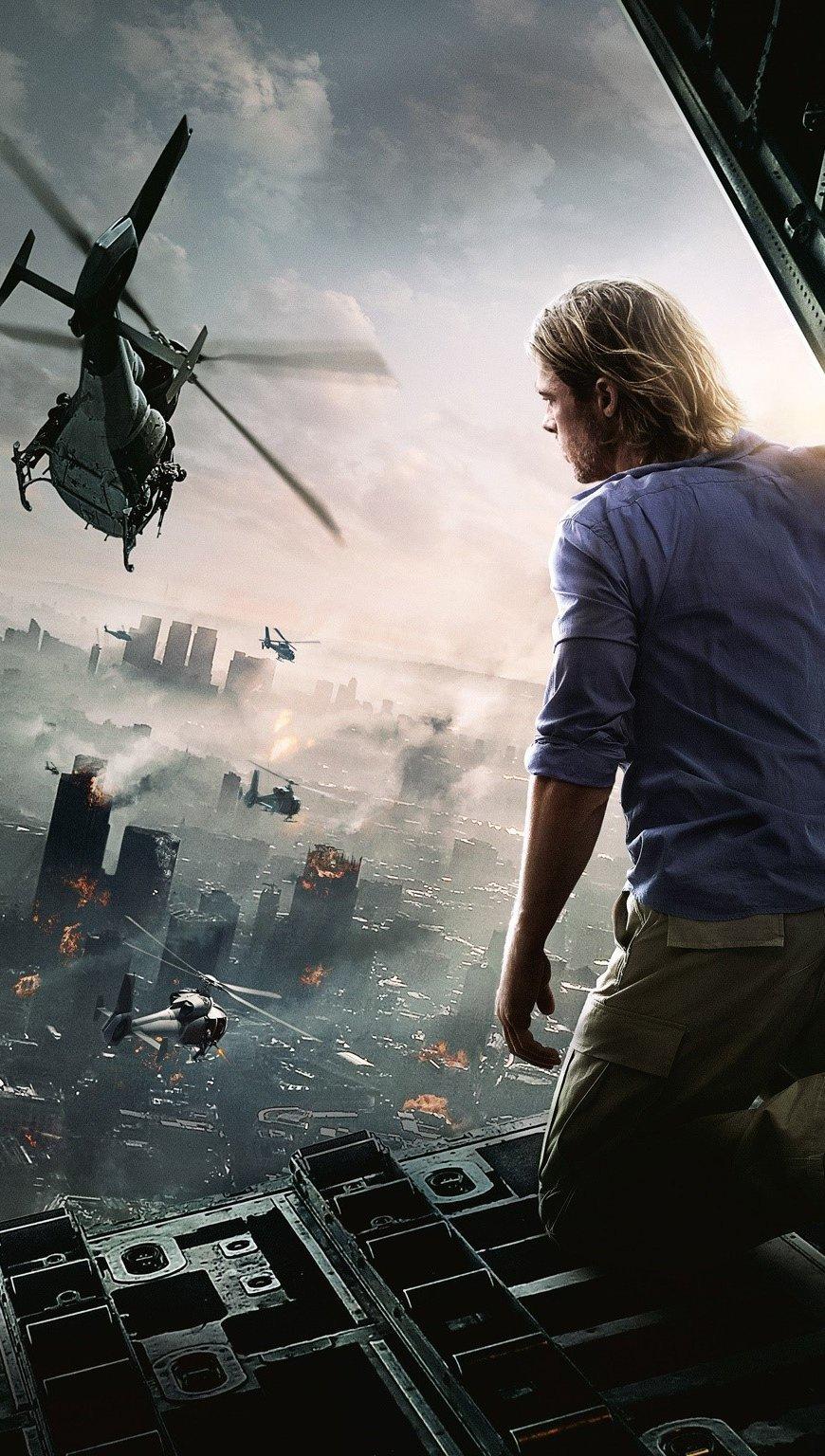 Fondos de pantalla Brad Pitt para Guerra mundial Z Vertical