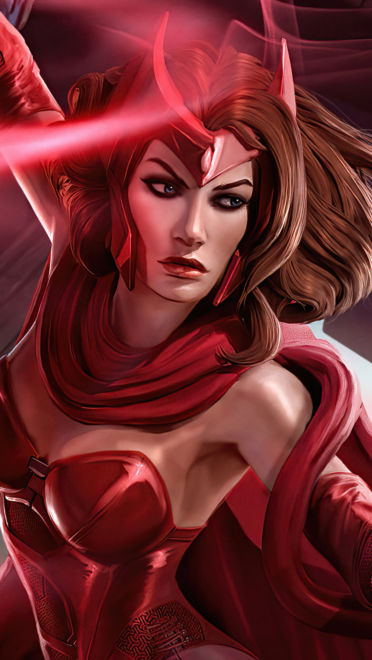 Wallpaper Scarlet Witch Art Print 2021 Vertical