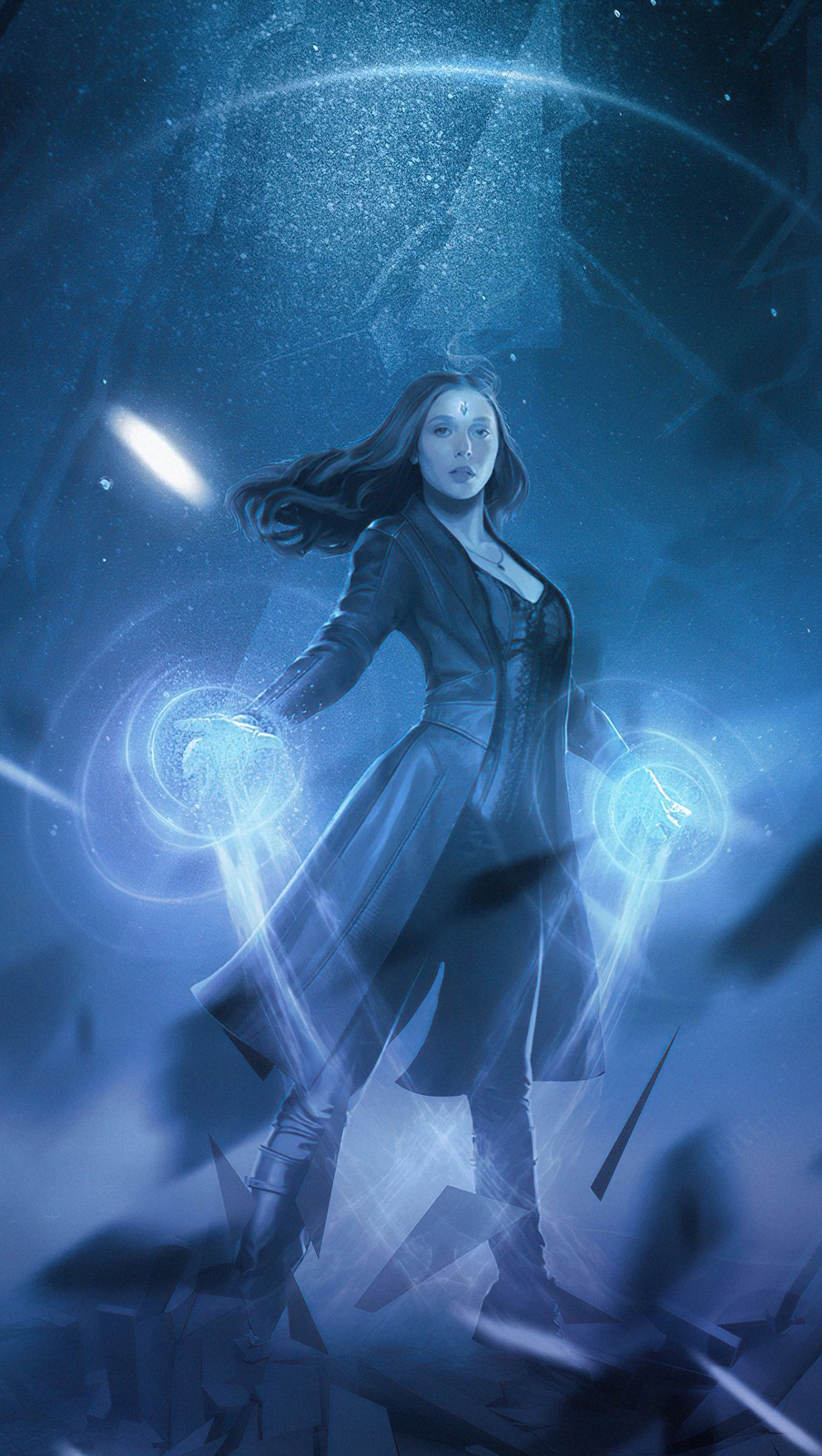 Wallpaper Scarlet Witch in Wandavision Vertical
