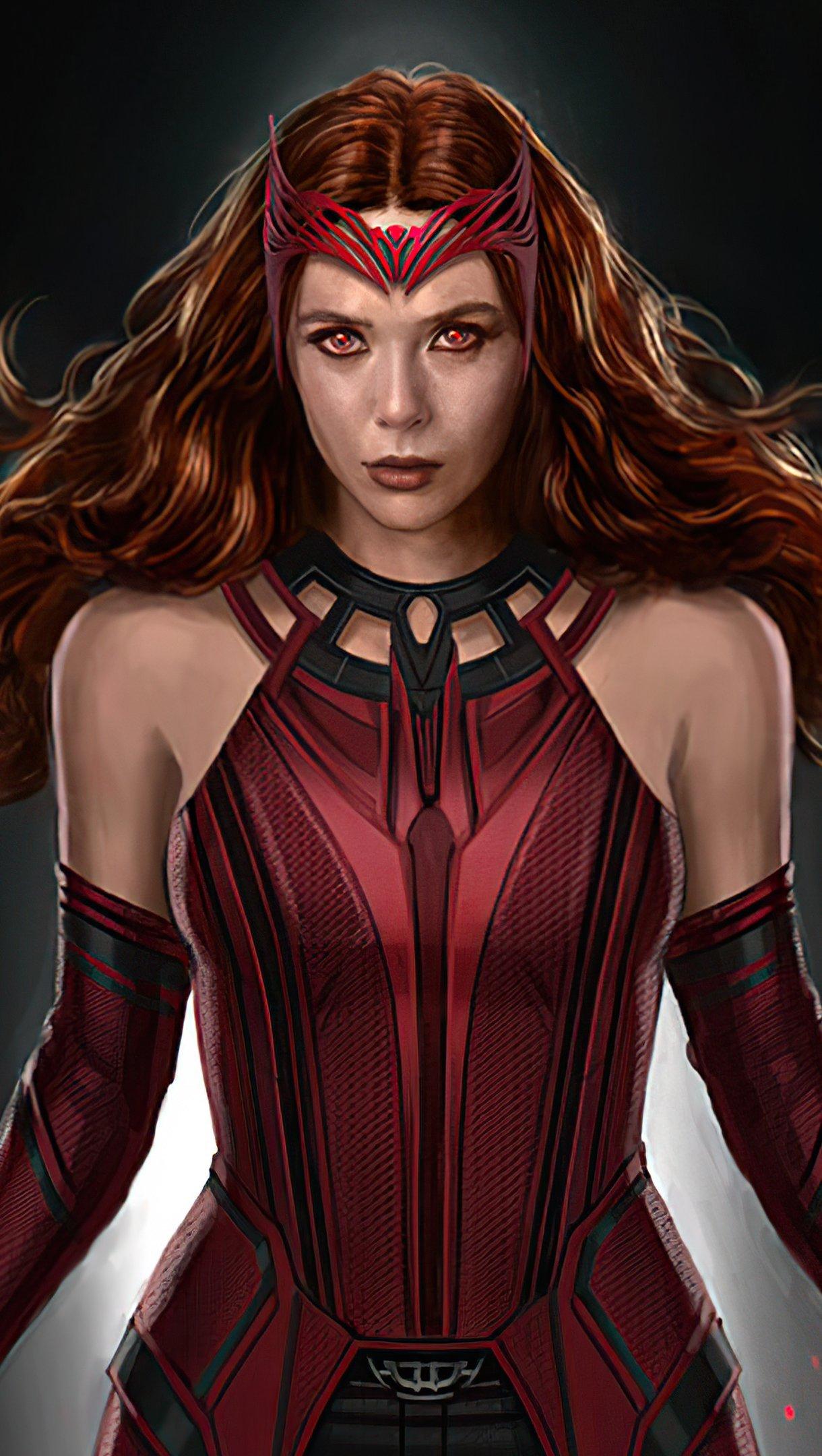 Wallpaper Scarlet Witch Fanart 2021 Vertical