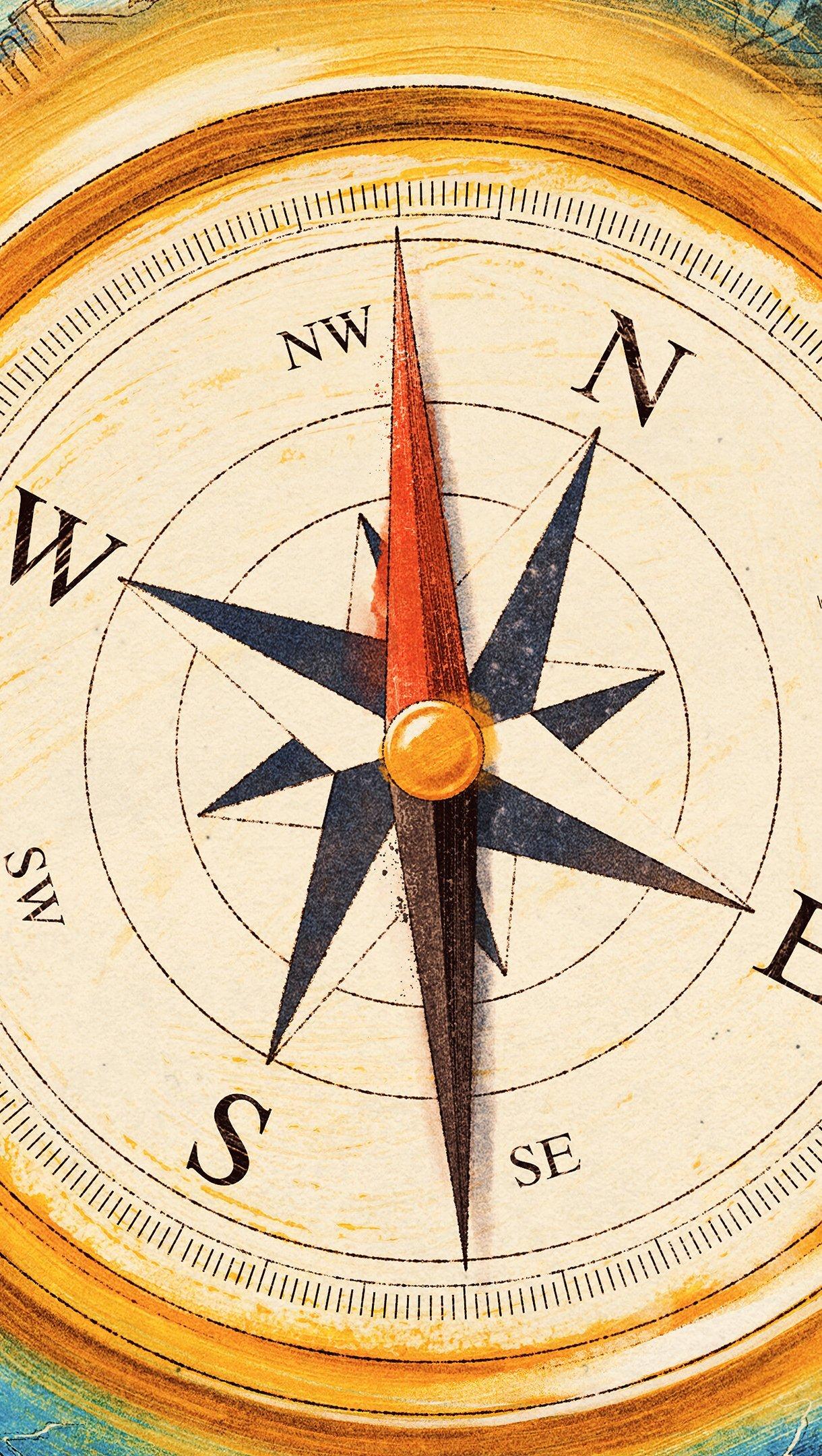 Wallpaper Compass directions Digital Art Vertical