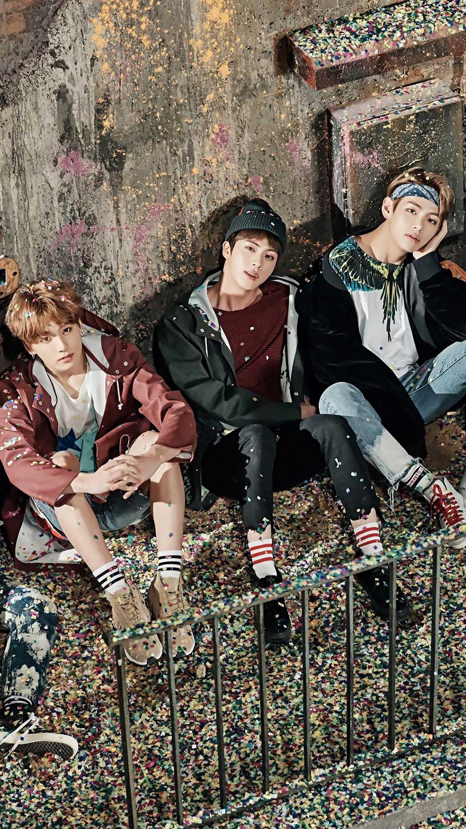 Wallpaper BTS: J-Hope, Jimin, Jin, Jungkook, RM, Suga y V Vertical