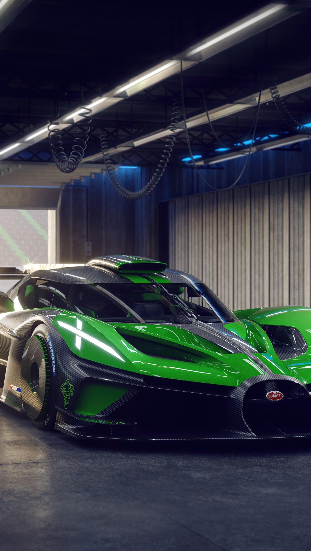 Fondos de pantalla Bugatti Chiron y Bugatti Bolide Vertical