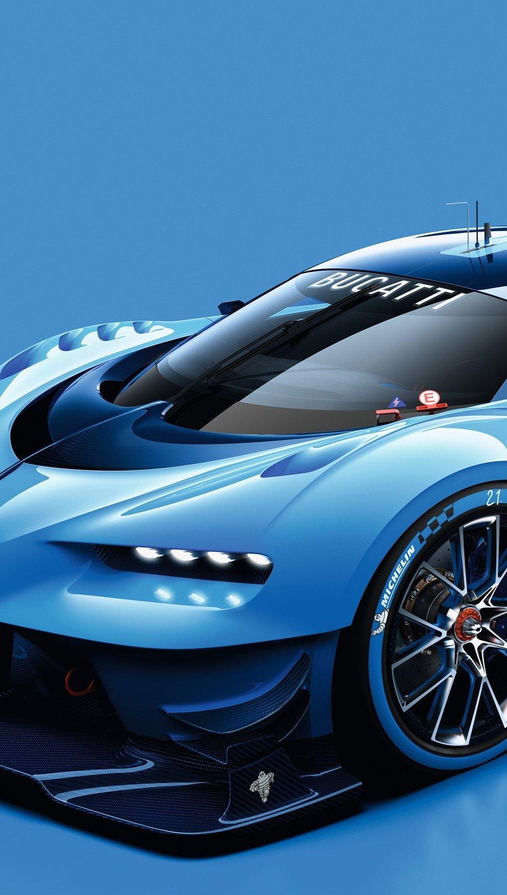 Wallpaper Bugatti Vision in Gran Turismo Vertical