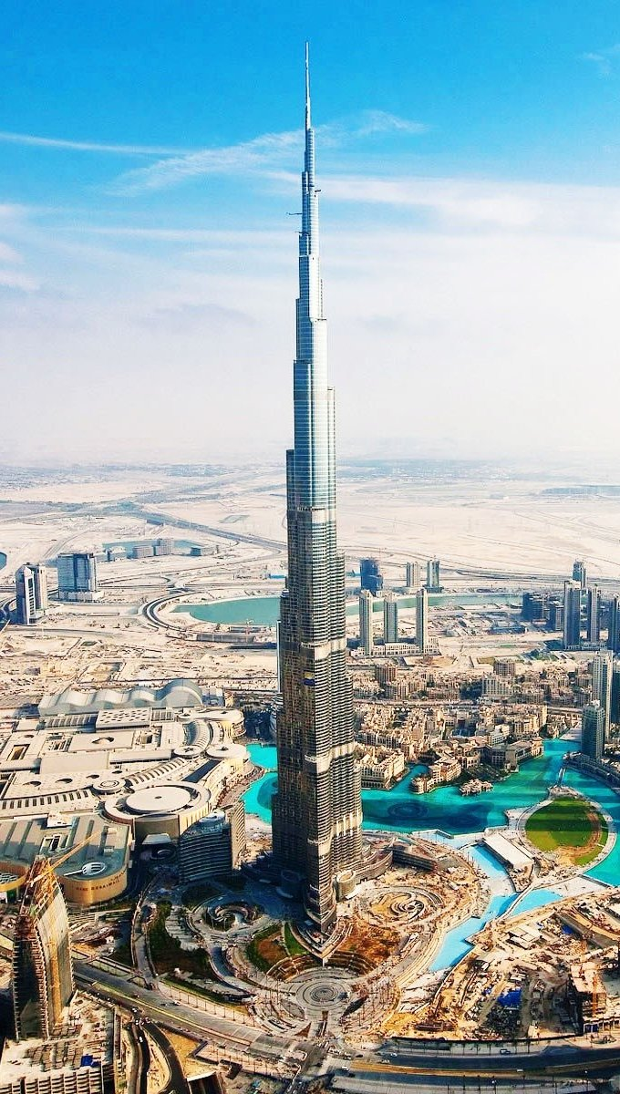 Fondos de pantalla Burj Khalifa Aka Burj en Dubai Vertical