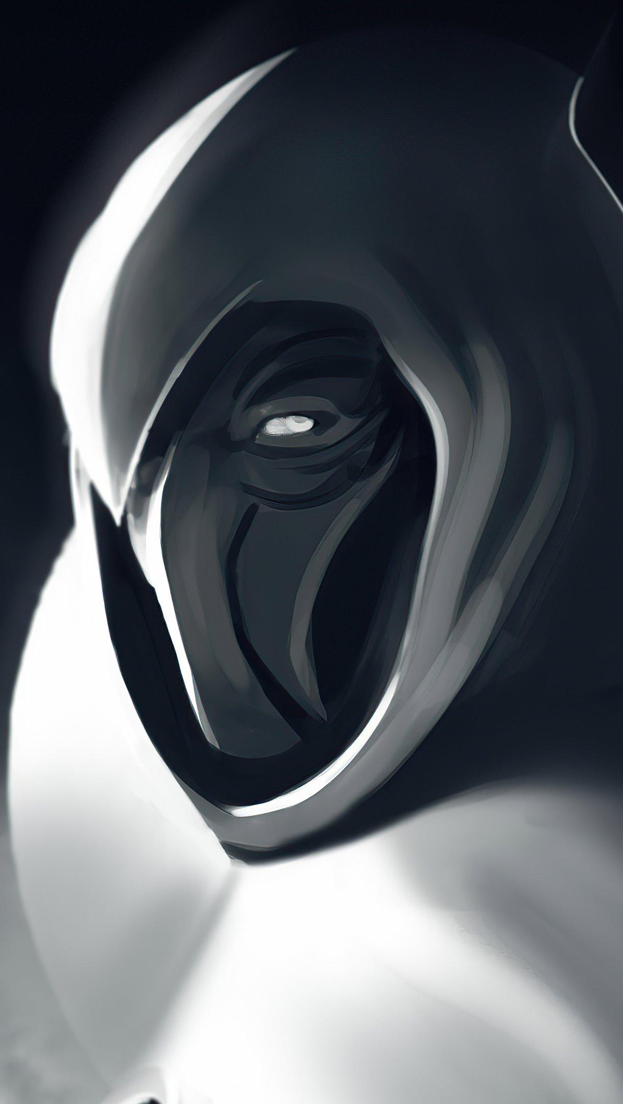 Wallpaper Moon Knight Monochrome Vertical