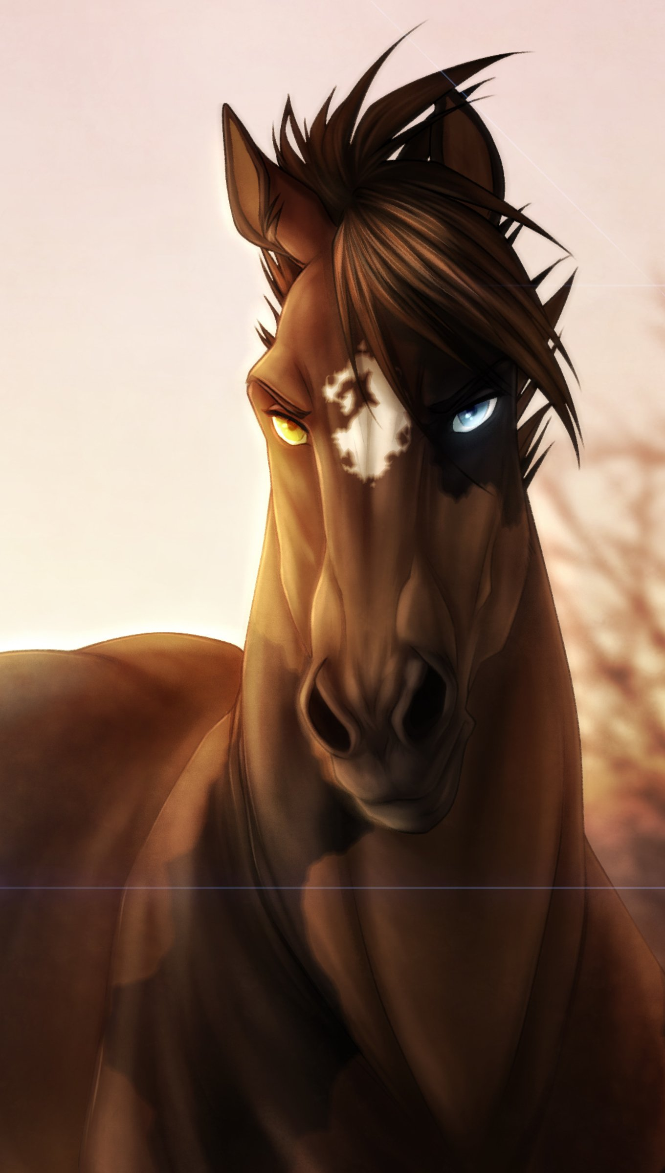 Wallpaper Horse with intense stare Vertical