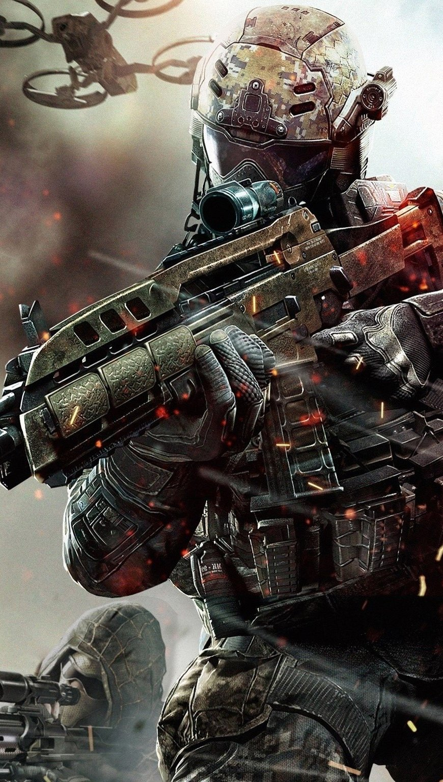 Wallpaper Call of Duty Black Ops 2 Vertical