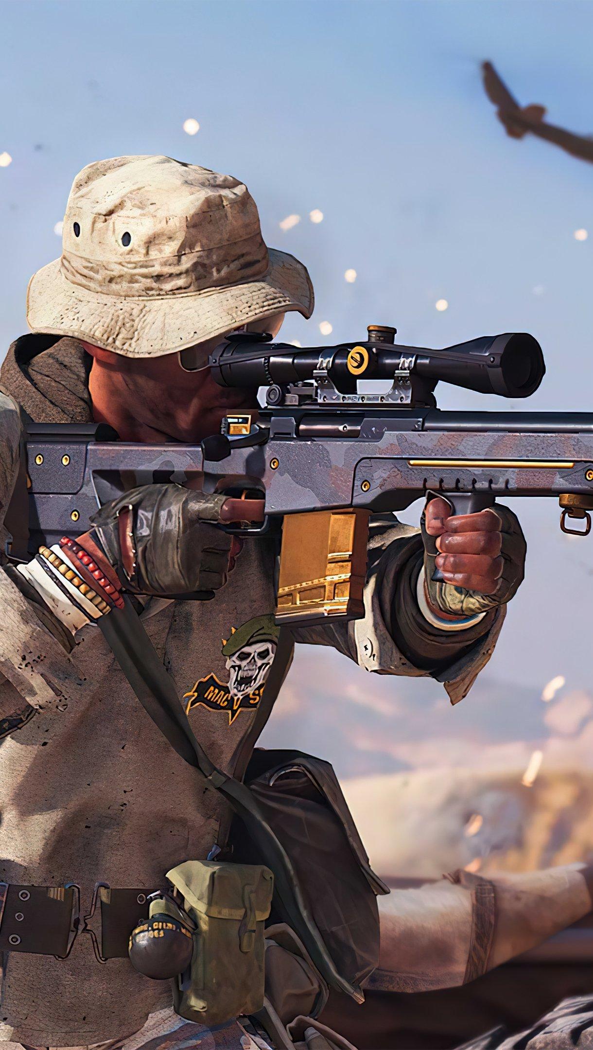 Fondos de pantalla Call of Duty Black Ops Cold War Sniper Vertical