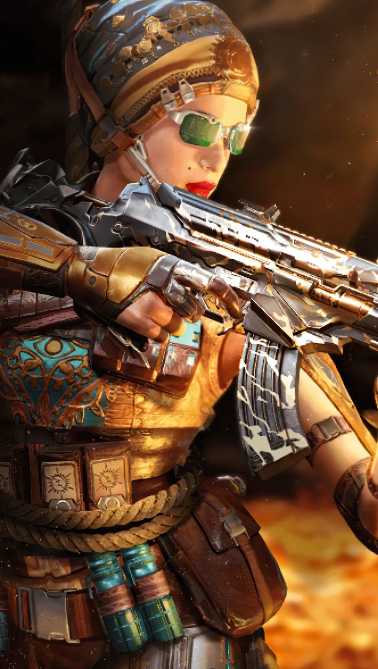 Fondos de pantalla Call of Duty Mobile Outrider Mystic Skin Vertical