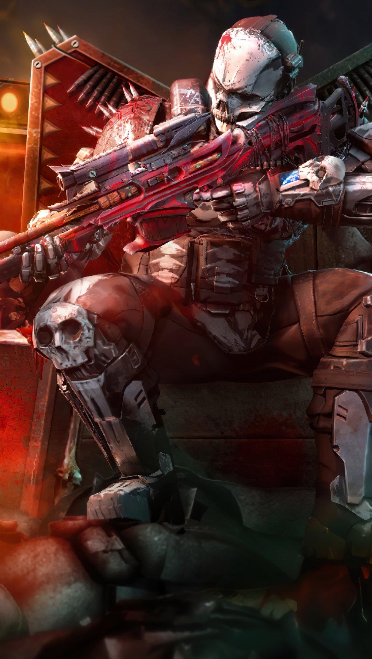 Fondos de pantalla Call of Duty Mobile rune bone warrior Vertical