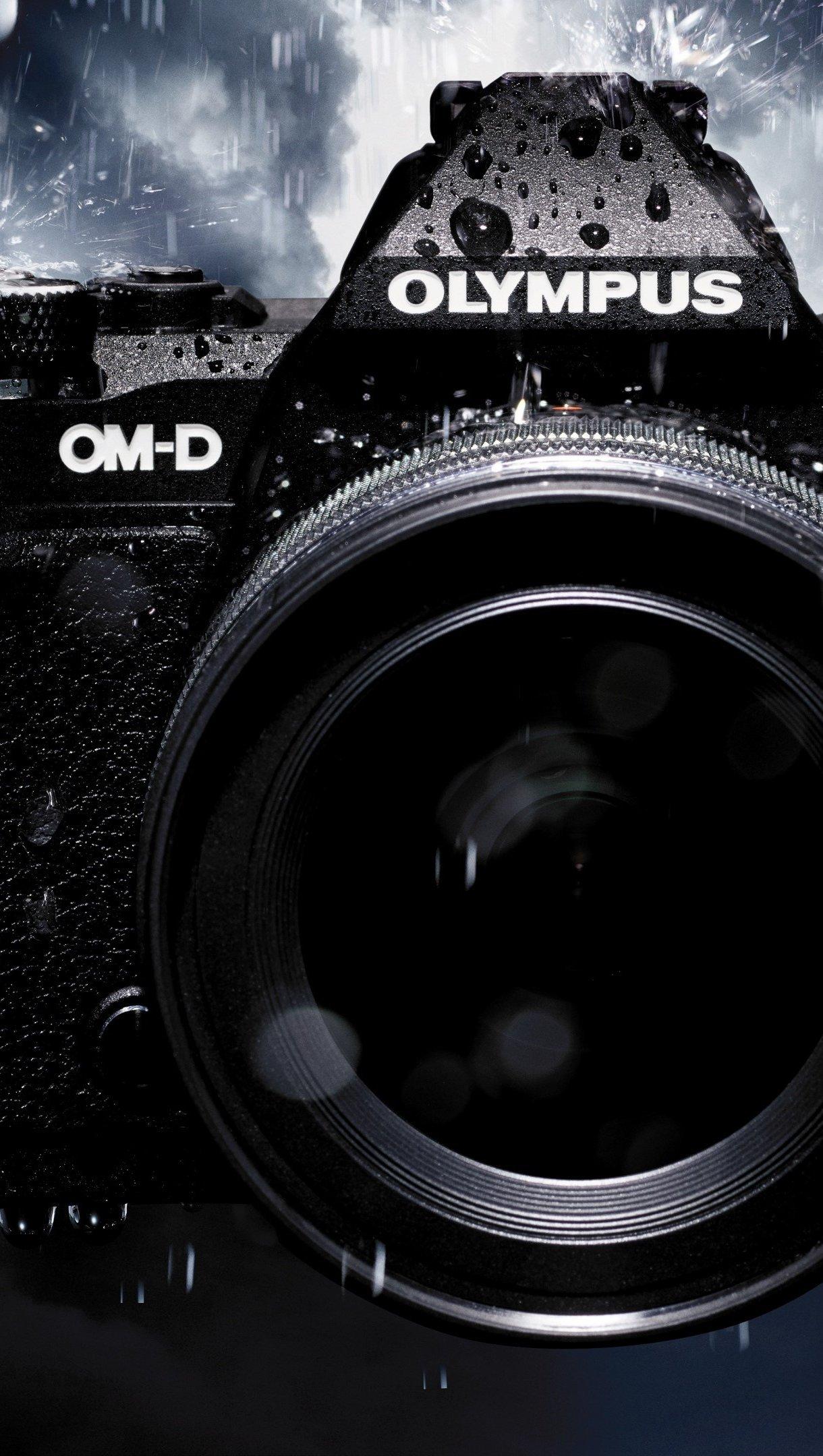 Wallpaper Olympus OM-D camera Vertical