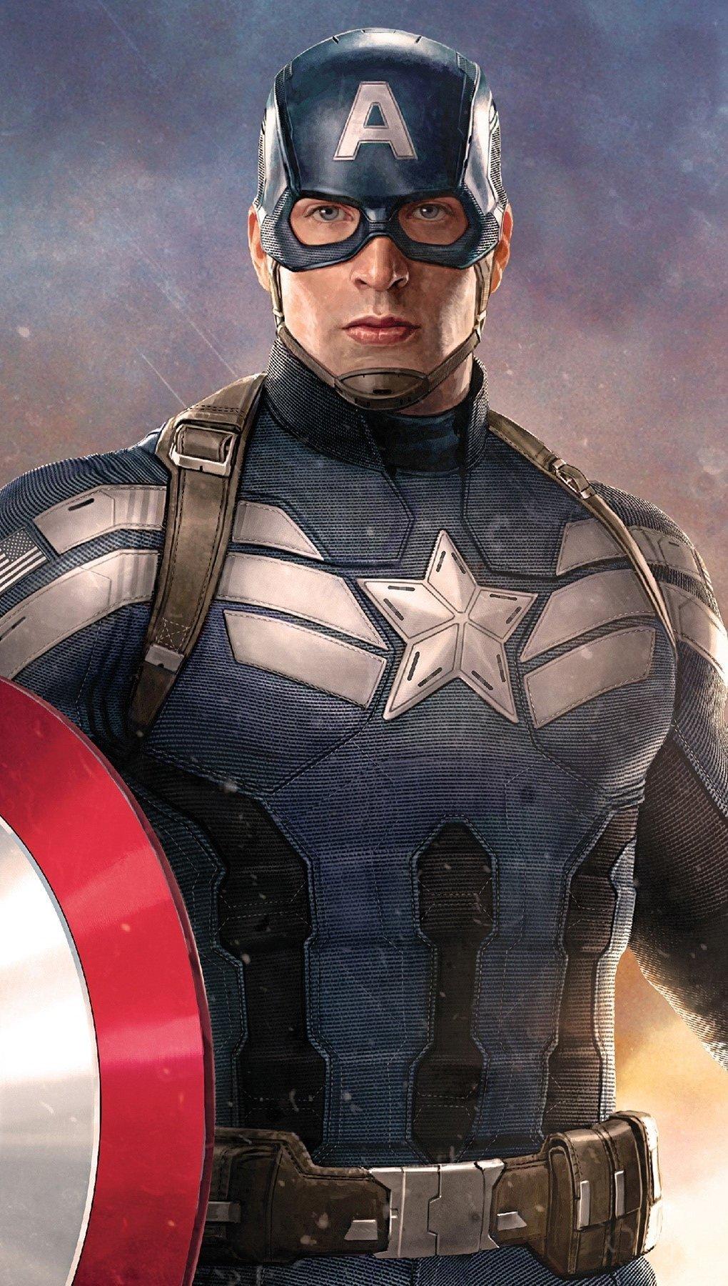 Wallpaper Captain America Vertical