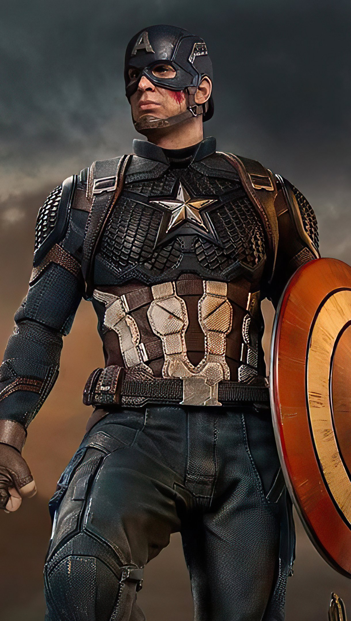 Wallpaper Captain America with shield Vertical