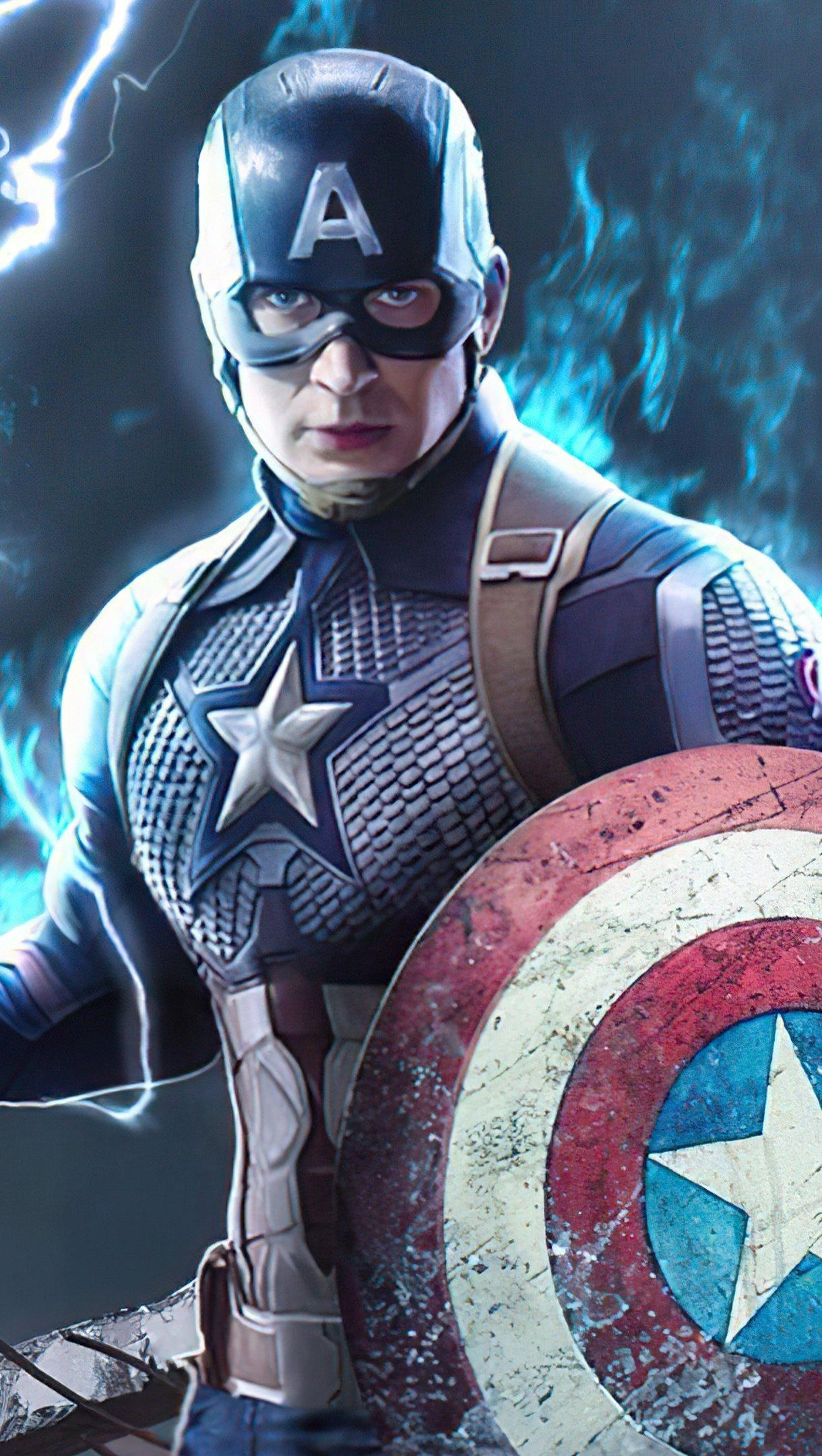 Fondos de pantalla Capitan America con escudo roto Vertical