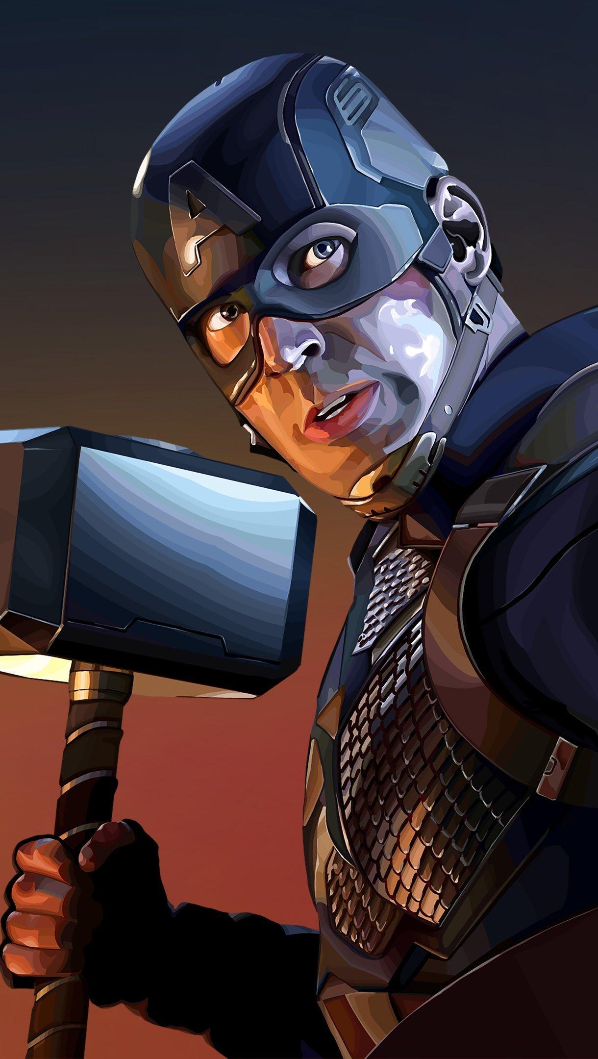 Fondos de pantalla Capitan America con martillo Vertical