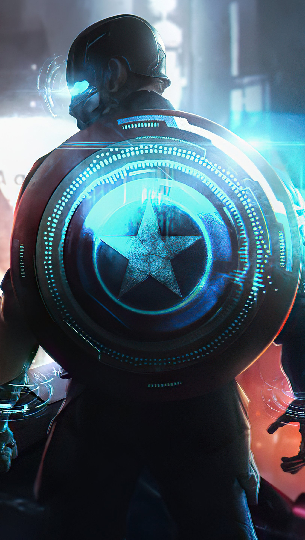 Fondos de pantalla Capitan America Cyberpunk Vertical