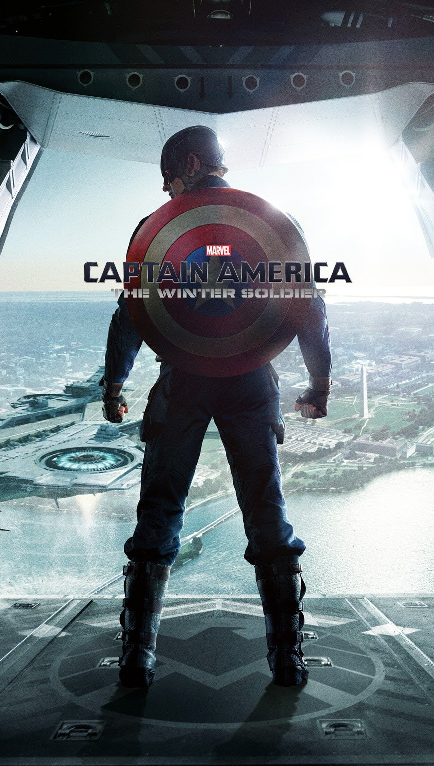 Wallpaper Captain America The winter soldier Vertical