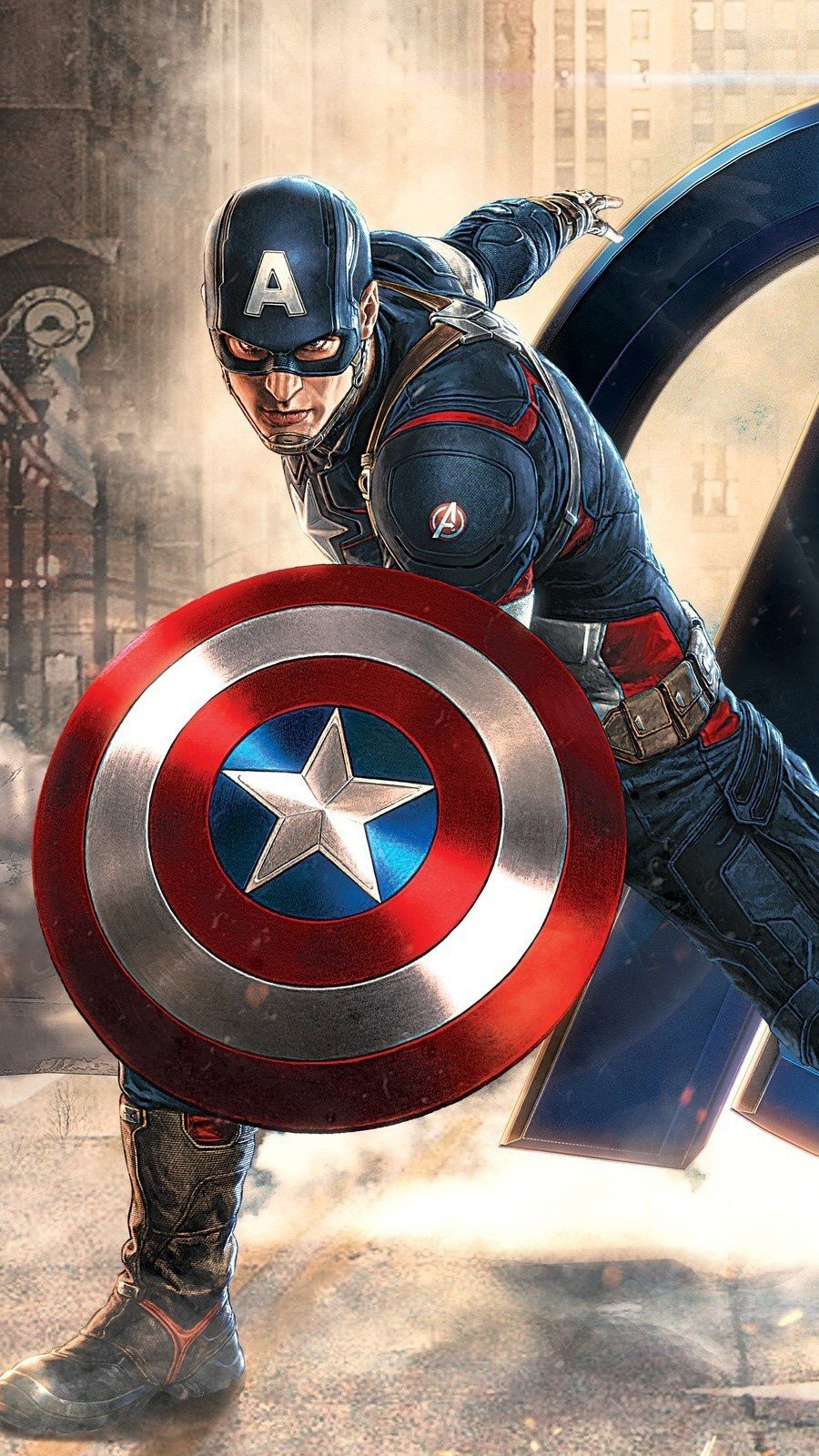 Wallpaper Captain America at Avengers Vertical