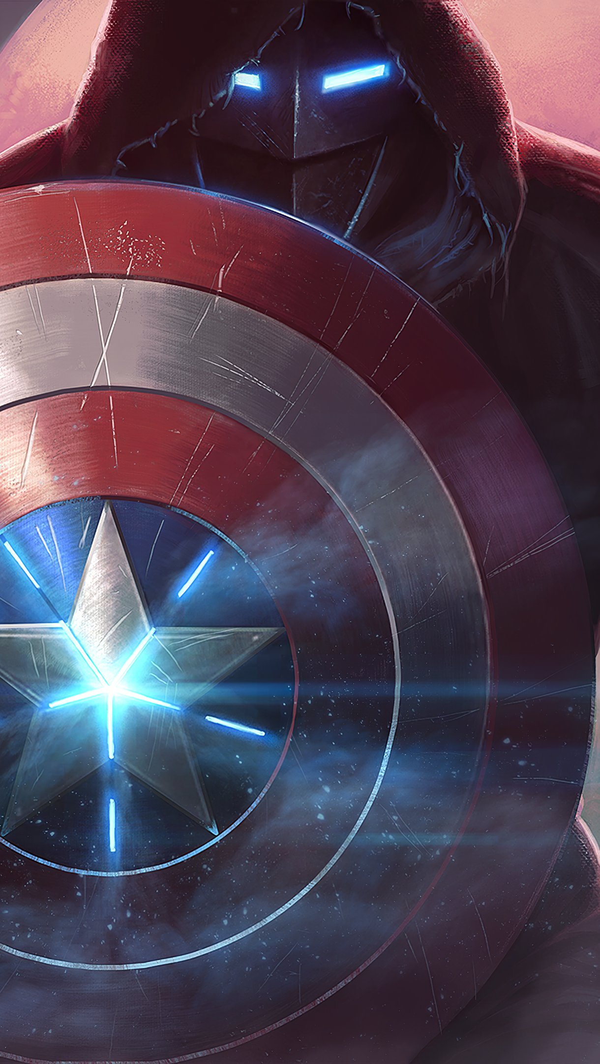 Wallpaper Captain America in Contest of Champions Vertical