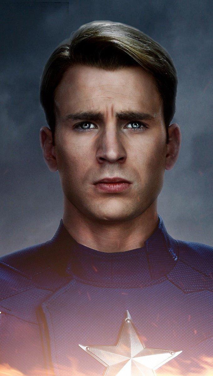 Wallpaper Captain America in The Avengers 2 Vertical