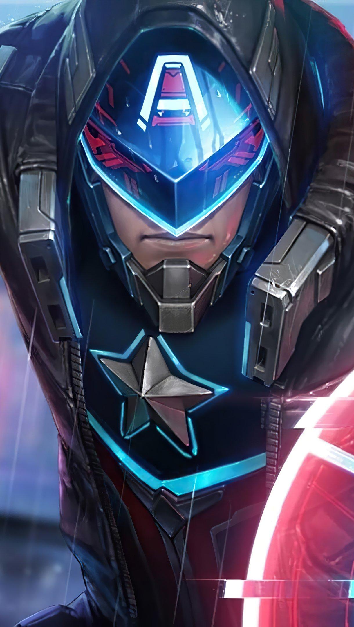 Fondos de pantalla Capitan America Future Fight Vertical