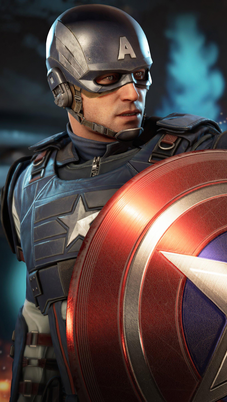 Wallpaper Captain America Avengers Vertical