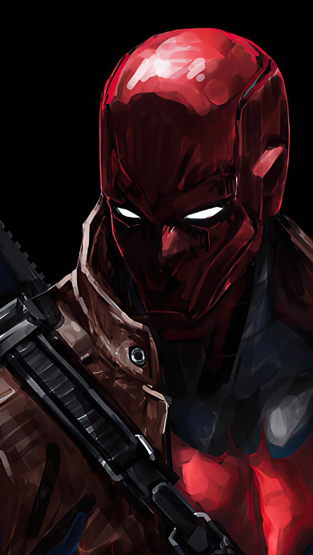 Fondos de pantalla Capucha roja con arma Vertical