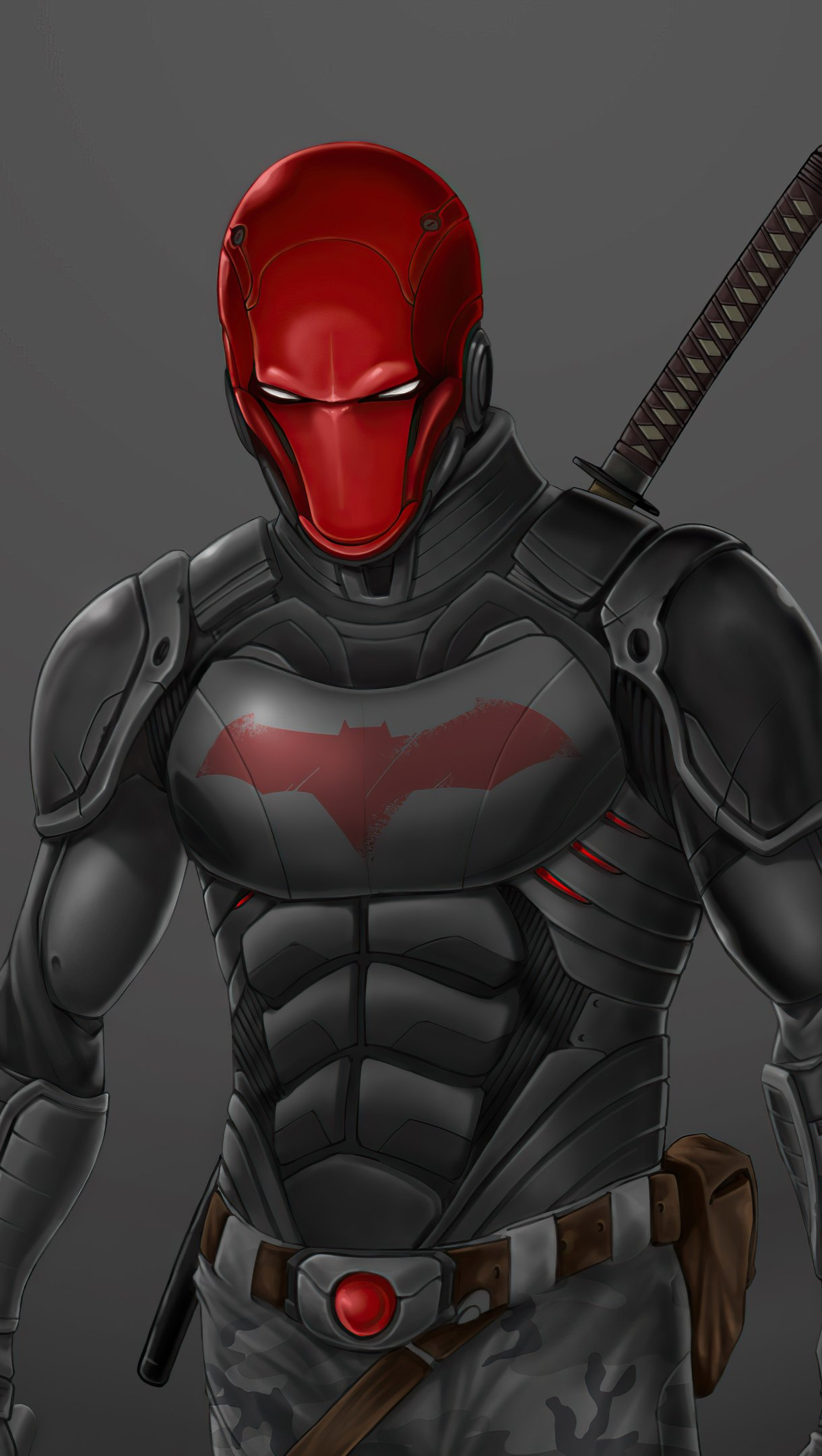 Wallpaper Red Hood angry Vertical