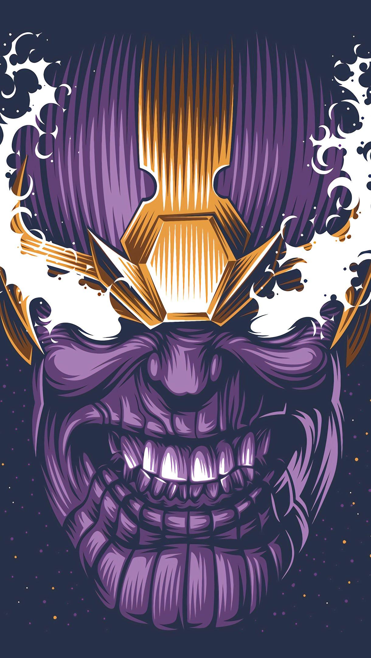Fondos de pantalla Cara de Thanos Minimalista Vertical