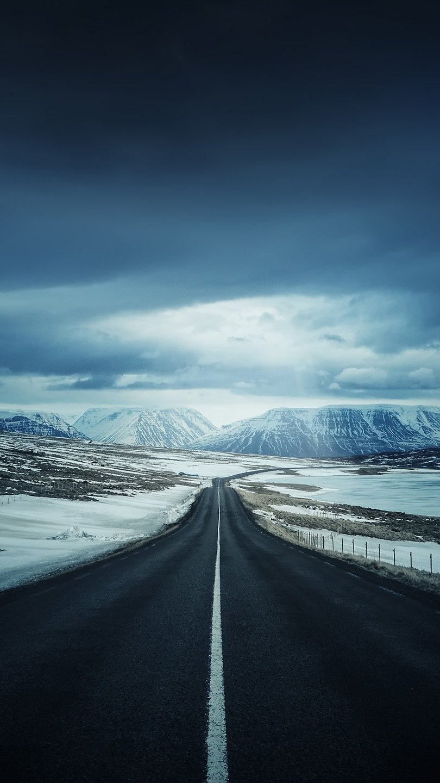 Wallpaper Ice road Vertical