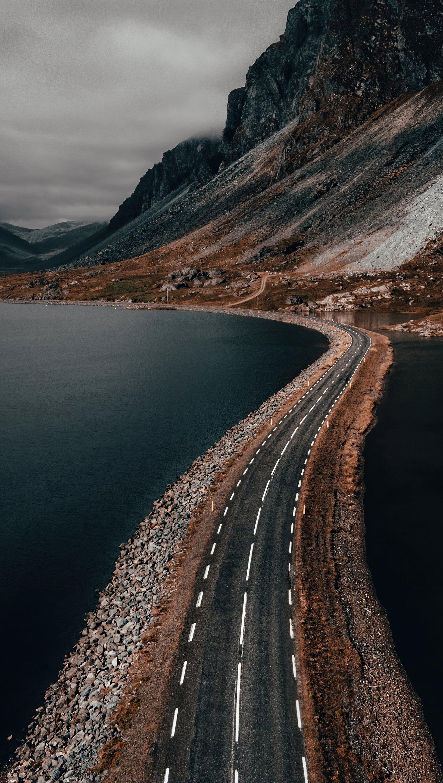 Fondos de pantalla Carretera en medio del mar Vertical