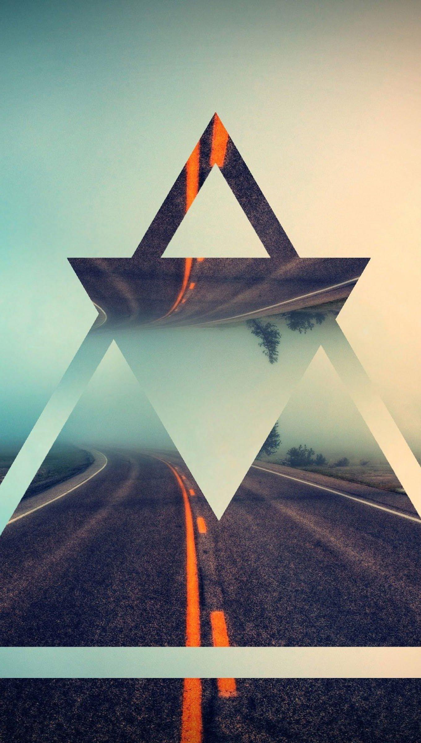 Fondos de pantalla Carretera triángulos Vertical