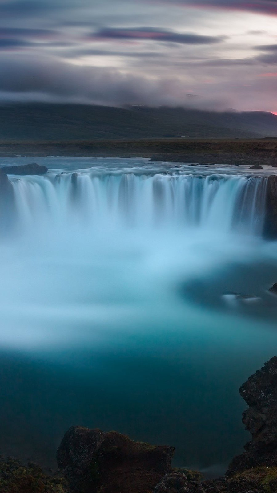 Fondos de pantalla Cascada Godafoss en Islandia Vertical