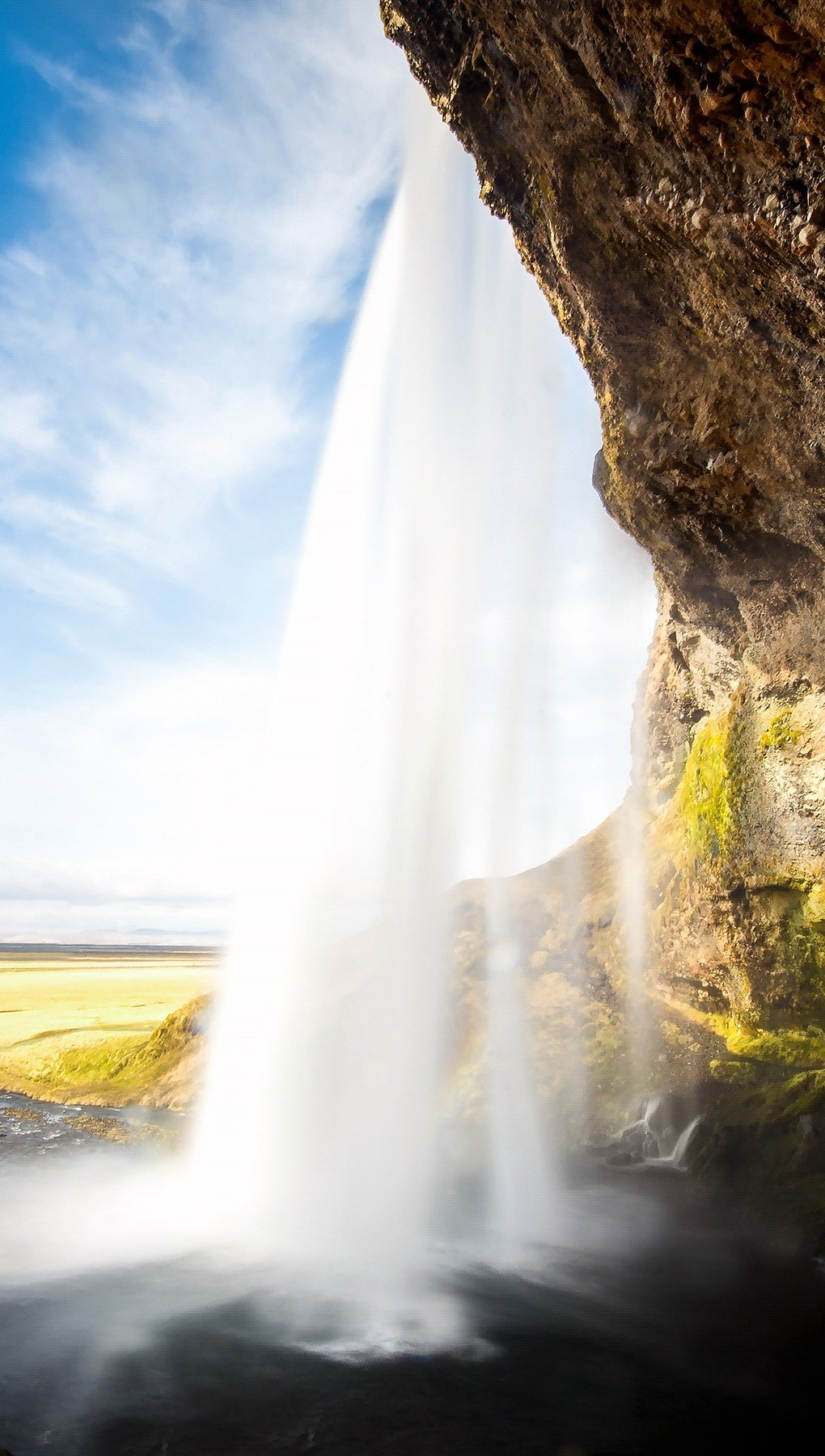 Wallpaper Seljalandsfoss waterfall Vertical