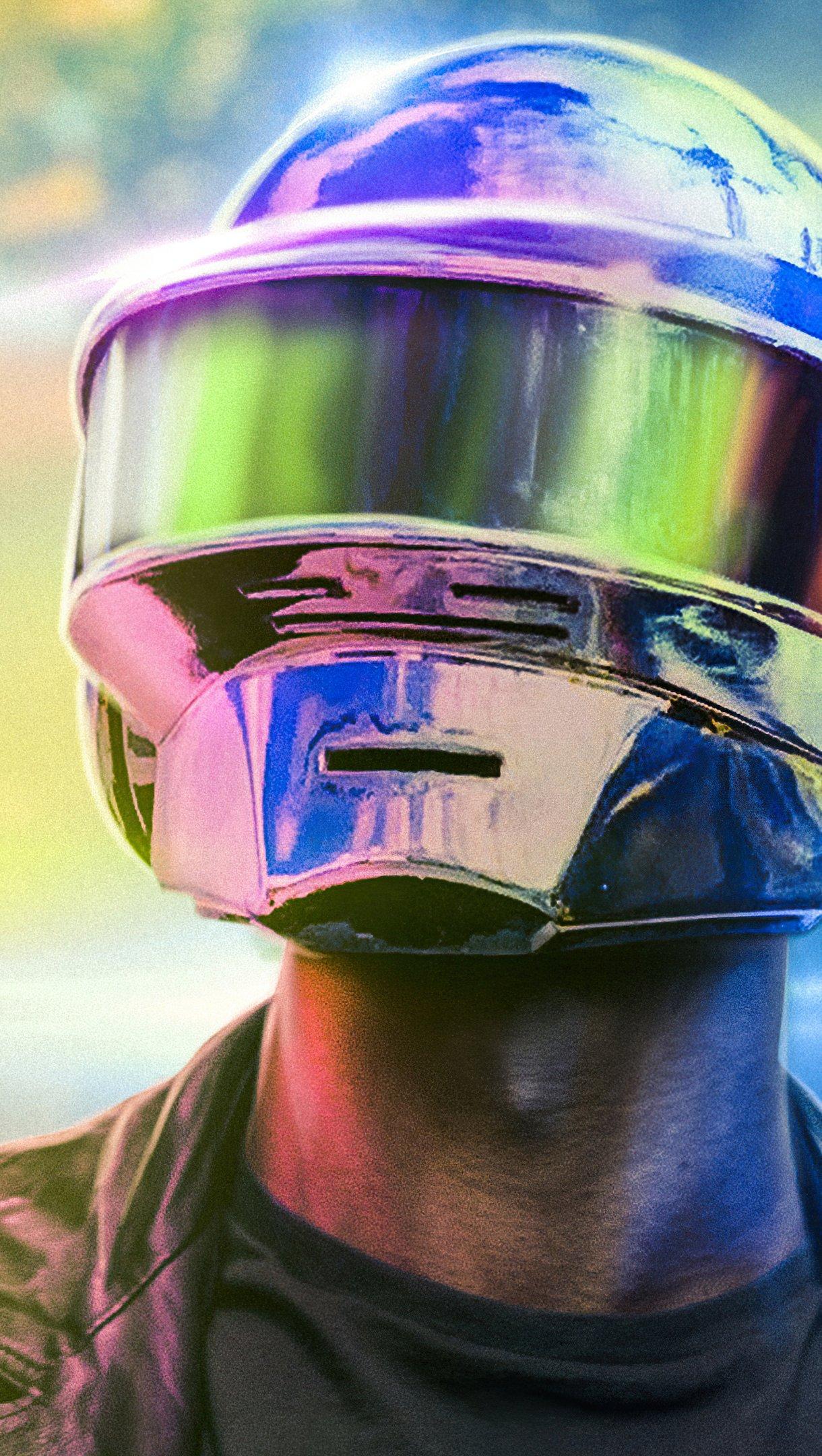 Fondos de pantalla Casco de Daft Punk Vertical